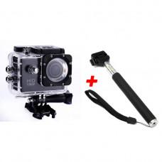 Экшн-камера А7 Sports Full HD 1080 Черная + Монопод (nri-2259)