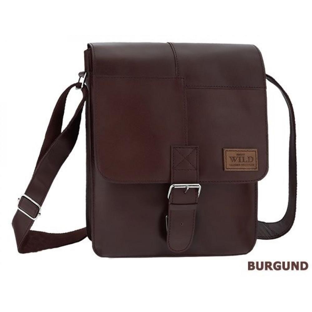 Стильная мужская сумка ALWAYS WILD натуральная кожа  Польша код 18