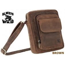 Мужская сумка кожа бренд Always Wild Brown