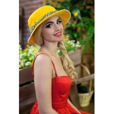 Шляпа-панама «Мелиса» (ярко-желтый) Braxton