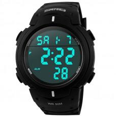 Часы наручные 1068 SKMEI черные.