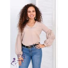 """Блуза с объемным рукавом """"Adel"""" размеры 42, 44, 46, 48"""