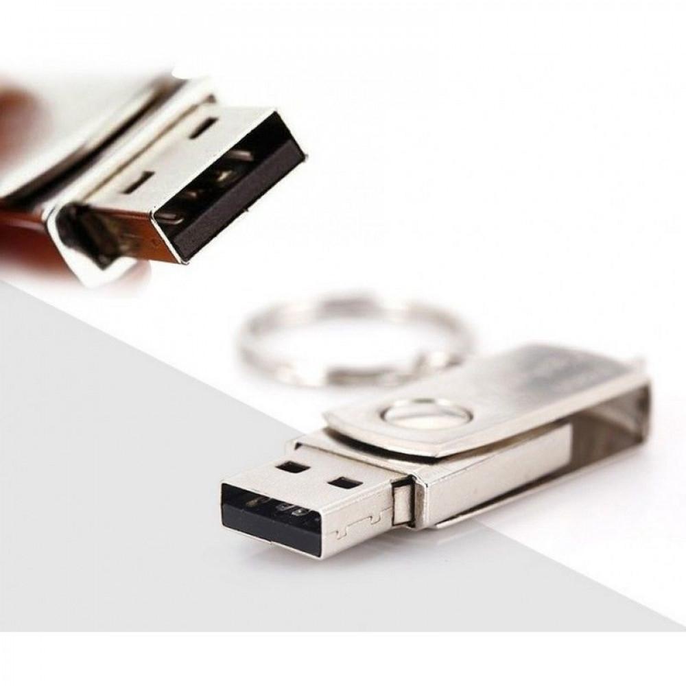 Прочная металлическая флешка USB 2.0 с защитой от влаги на 16Гб