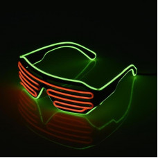Очки светодиодные El Neon неоновые spiral red Green (902883984)