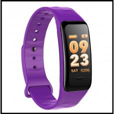 Смарт браслет C1S - Фиолетовый  Шагомер, уведомления о вызовах и смс, пульсометр, датчик давления