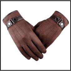 Перчатки мужские  очень теплые ! Мягкая кожа. Коричневые. код 104