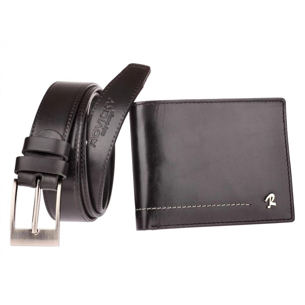 Комплект кошелек + ремень Rovicky натуральная кожа код 324
