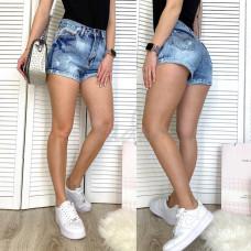 Шорты джинсовые женские с рванкой синие коттоновые  0040-15 A Relucky размер 25,26,28 (Н) Распродажа!