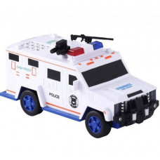 Электронная копилка-сейф с кодовым замком и отпечатком Hummer Машинка полицейская (300643WH)