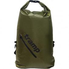 Рюкзак герметичный герморюкзак Tramp TRA-256 Olive Diamond Rip-Stop 25 л Оливковый (007168)