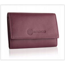 Кошелек женский бренд Betlewski натуральная кожа Польша розовый код 414