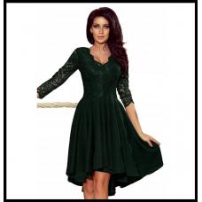 Праздничное платье с гепюровым верхом Numoco Nicolle оригинал, зеленое