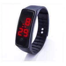 Наручные LED 555 часы браслет черный