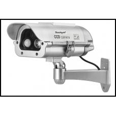 Муляж камеры видеонаблюдения Blueskysea на солнечных батареях с датчиком присутствия человека и вспышками