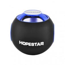 Мини динамик HOPESTAR H46 /MP3 / bluetooth / SD / FM Черный с синим (200471)