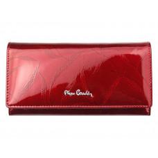 Женский кошелек премиум-класса Pierre Cardin бордовый код 316
