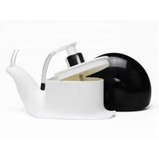 Дозатор для мыла Supretto Улитка 17х7х10,5 см Черный (5545-0002)