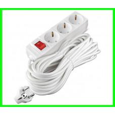 Удлинитель - Cетевой Фильтр на 3 розетки 3 метра кабель