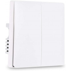 Умный выключатель белый Xiaomi Aqara Smart Light Switch Line-Neutral ZigBee Version Double Button