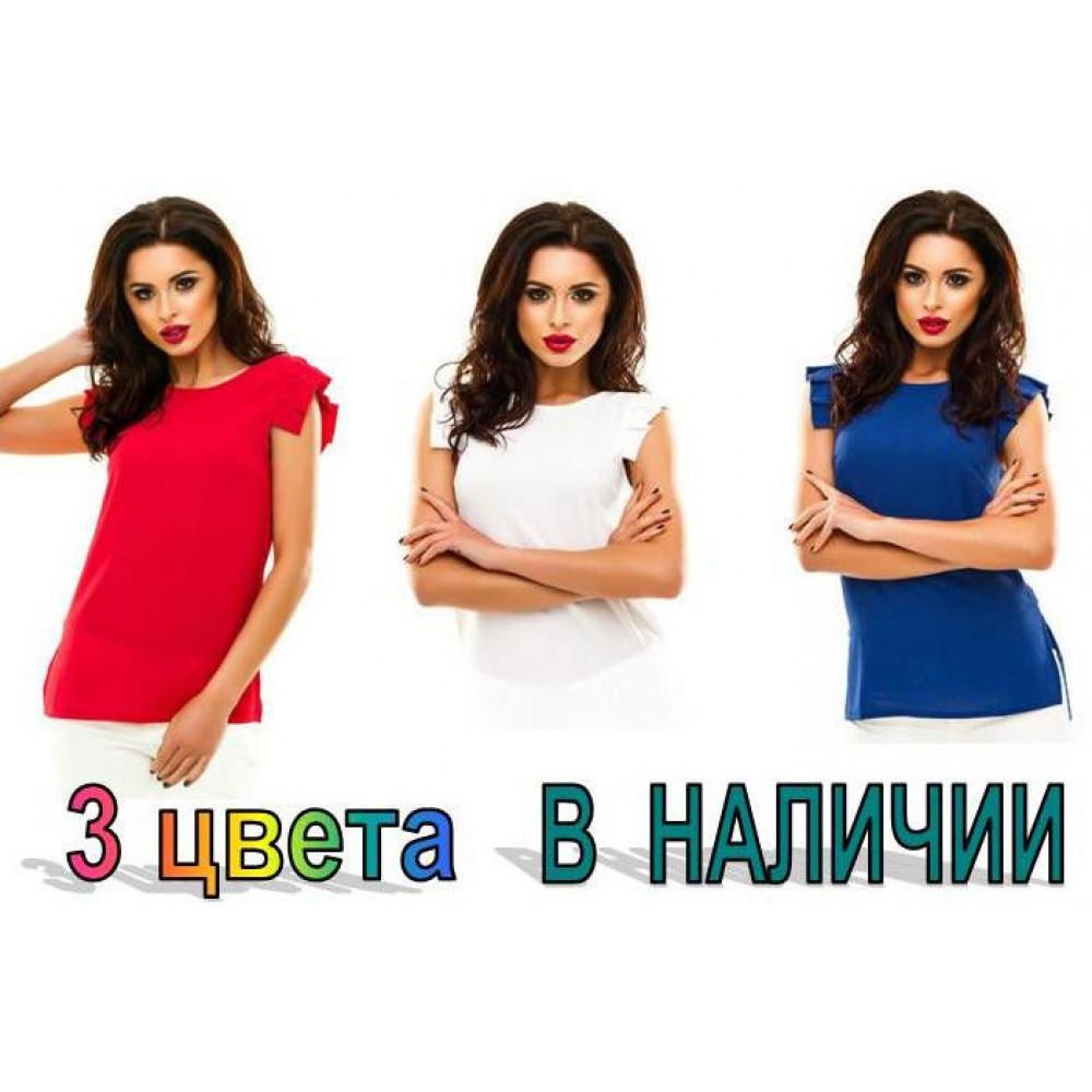 "Блузка летняя ""Лепесток"" - креп шифон код: 424"