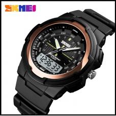 Спортивные часы Skmei 1454 Красное золото 50 m водонепроницаемый (5АТМ)