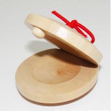 Кастаньеты дерево ударный музыкальный инструмент Бежевый (hub_BaRX32346)