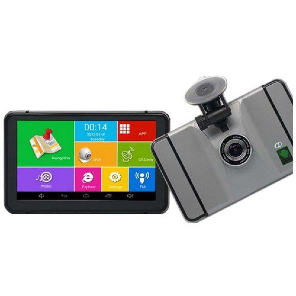 Android GPS навигатор + регистратор 7d IPS 4 ядра+ 8gb+Wi-Fi+Bluetooth+AV+512ddr