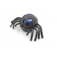 Игрушка-антистресс Паук с синими блестками Черная