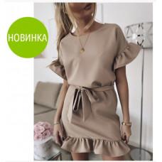 """Платье  женское стильное  с воланом """"Kira"""""""