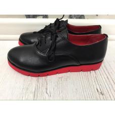 Туфли женские натуральная кожа  на красной подошве