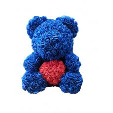 Мишка из роз Beal 40 см Синий (tdx0000982)