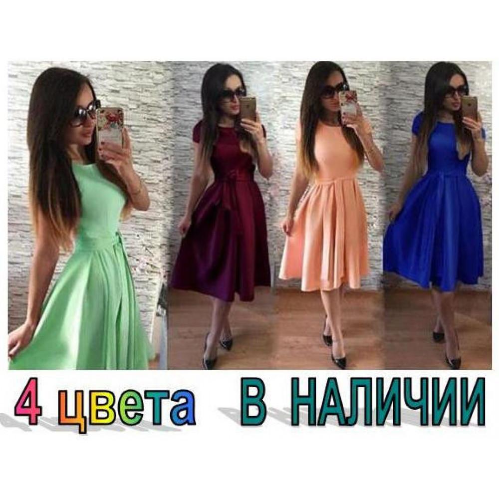 "Платье летнее ""Fleur"" - креп шифон код: 929"