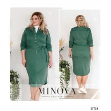 Женское  повседневное платье -бирюзово-зеленый