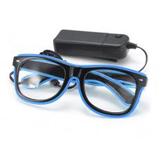 Очки светодиодные прозрачные El Neon ray Blue (902122868)
