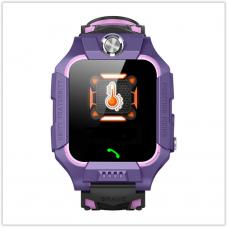 Детские часы Водонепроницаемые F26 фиолетовые с датчиком измерение температуры тела, Камера
