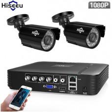 Комплект видеонаблюдения Hiseeu 2ch AHD-2MP 1080P Outdoor