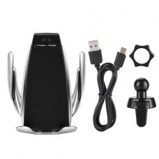 Автомобильный держатель для телефона Smart Sensor S5 с функцией беспроводной зарядки Черный  (AS101005345)