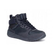 Треккинговые зимние мужские ботинки ( темно-синие), р.41-45