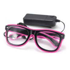 Очки светодиодные прозрачные El Neon неоновые ray Pink (902405184)