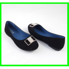Женские Балетки Чёрные Мокасины Туфли (размеры: 36,38,40)