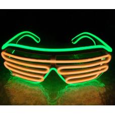 Очки светодиодные El Neon неоновые spiral green orange (902901759)