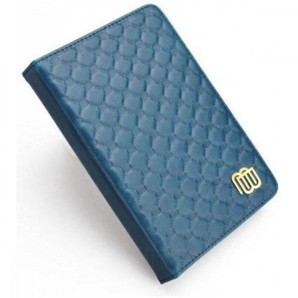 MB Leather Cover Quilted Blue with LED light for Kindle 5/Kindle 4 (MB28863)