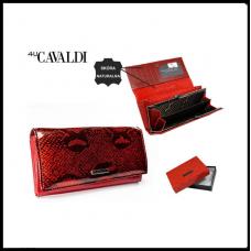 Кошелек женский  Cavaldi Кожа  красный Польша код 1011