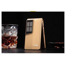 """Флип - мобильный телефон Elder H-mobile Gold экран2,8"""". Раскладушка на русском языке."""