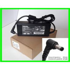 Блок Питания Зарядка для Ноутбука TOSHIBA 19v 4.74a 90W штекер 5.5 на 2.5 (ОРИГИНАЛ)