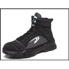 Защитные кроссовки мужские высокие размер 36-48 черный