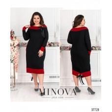 Нарядное женское платье плюс сайз -черный