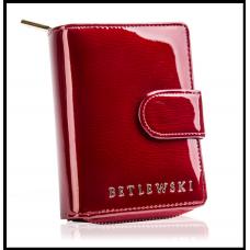 Кошелек женский брендBETLEWSKIнатуральная кожа Польша красный Лак код 402