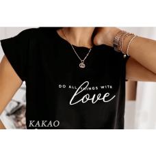 Женская футболка Love, качественная, стильная