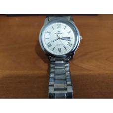 Часы наручные Fngeen белые Число - день миталический ремешок  ФлуоресцентныеВодонепроницаемые 2109